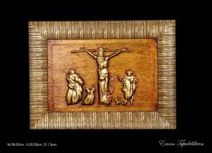 JESUS(GOLD FOIL WORK RELIEF)