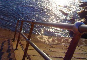 Hand Rail by the Sea