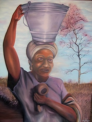 Woman Carrying Watercan
