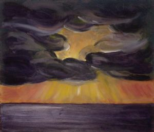 Sunset Mock Painting, 2003