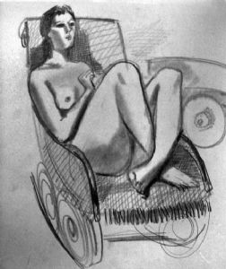 In a rocking-chair