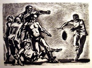 Rugby football. The ball
