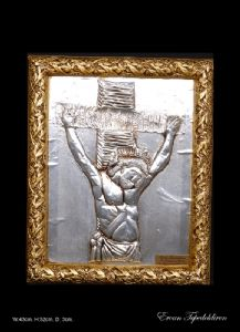 JESUS IS ALUMINUM RELIEF