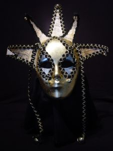 Adagio -Designer mask made by Claudia Hapeman of www.socaldesignco.com.