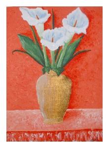 Callas In A Gold Vase