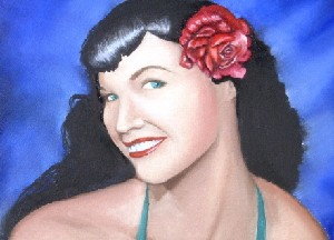 Bettie with Flower