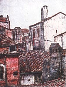 Rooftops (Hand Colored)