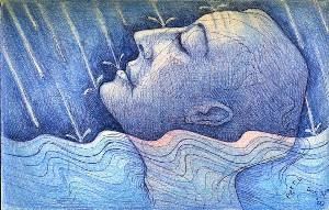 Bather in the Rain 3