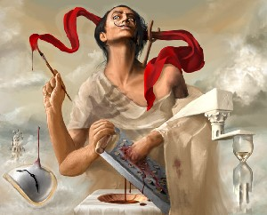 Salvador.Dali Autosodomised by His own Inspirat