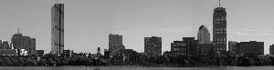 Boston Skyline Black & White