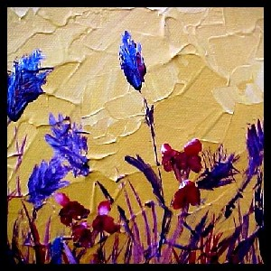 <b>Blue Brush Flowers
