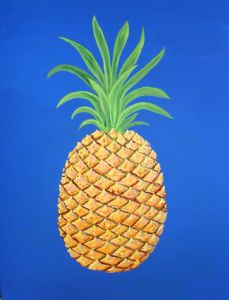 FANTASY PINEAPPLE ON BLUE