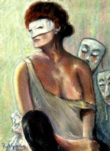 Lady with Masks