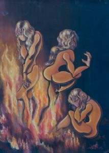 Dolls in the fire