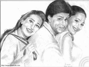 Sharuk, Madhuri & Karishma