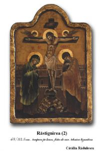 B- Byzantine icon- Crucifixion