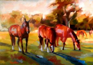 Bogatean,Calin-Horses at pasture