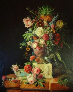 GOSSELIN,Paul-Stillive with Flowers
