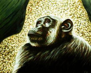 Chimpanzee portrait (2)