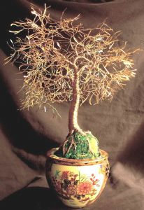 ASIAN GOLD LEAVES - Wire Tree Sculpture