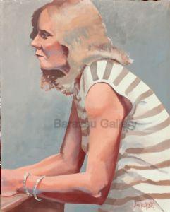 Barazsu,Dave-Woman With Striped Shirt