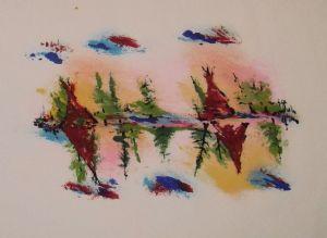 Langdonart,Artiste-Ink Serenade Teepees 1 by Langdonart