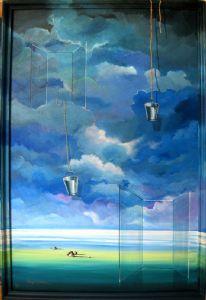 WINDOW  Acrylin On Canvas )