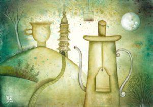 The Tea Still-life with Dream Scarps