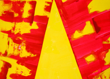 Red and Yellow Abstract +Triangle