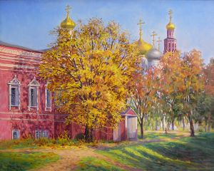Autumn in Novodevichy a monastery in Moscow