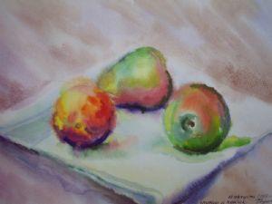 Pears and a peach