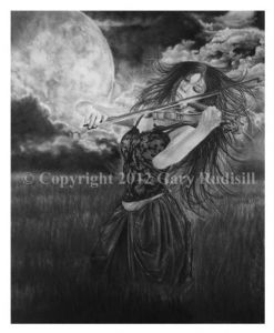 Windsong Original Charcoal Drawing
