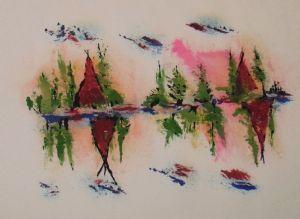 Pink Serenade Teepees 2 by Langdonart