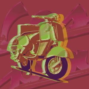 Vespa pop art