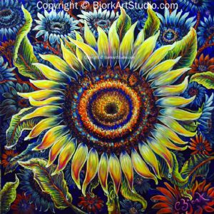 CBjork, Giant Sunflower 36 x 36