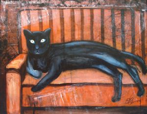 THE CAT ( Acrylin On Canvas )