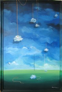 HANGING CLOUD ( Acrylin On Canvas )