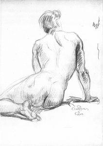 Man Sitting Back's Study