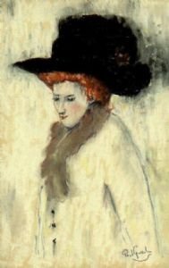 GOSSELIN,Paul-Woman with a black hat