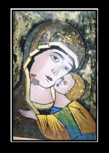 CRISTINA,CAZACU-Byzantine icons painted on glass 2