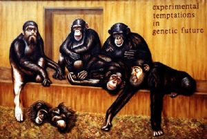 Civa,Dan-Chimpanzee-group with selfportraits