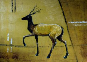 HAPPY DEER ( Oil On Canvas )