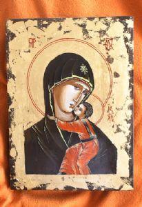 B-Byzantine Icon-Fecioara Maria si Pruncul Isus