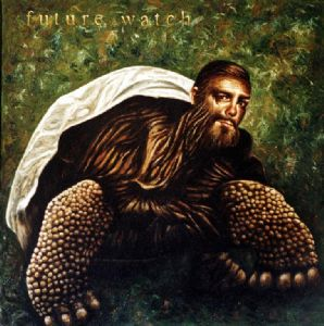 Giant tortoise with selfportrait