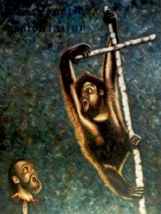 Orangutang with selfportraits