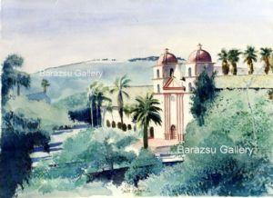 Barazsu,Dave-Hillside View of Santa Barbara Mission California