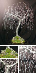 GENTLE WILLOW  - Wire Tree Sculpture, by Sal Villano