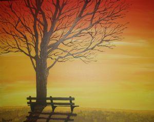 sunset bench