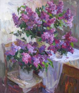 stil life with lilacs