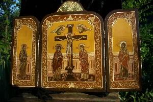 B- Byzantine Icon -triptic